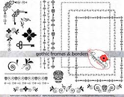 gothic frames u0026 borders clip art pack card making digital frames