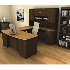 U Shaped Computer Desk Manhattan U Shaped Computer Desk With Hutch Included