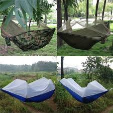 portable high strength 250cm x 120cm parachute fabric hammock tent
