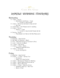 wedding party itinerary examples flipbean co