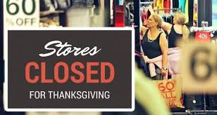 stores bow to pressure for thanksgiving metro voice news