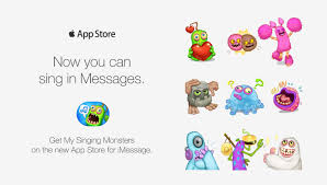 singing emoji my singing monsters stickers have arrived u2013 big blue bubble
