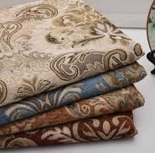 tissu canapé au mètre 1 mètre jacquard chenille tissu d ameublement fleurs pour canapé