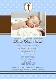Sample Of Invitation Card For Christening Baptism Invitation Template With Beige Color And New Born Baby