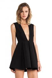 plunging neckline sultry plunging neckline backless mini dress oasap