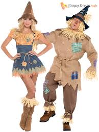 Halloween Costume Ladies Mens Ladies Scarecrow Costume Book Week Character Fancy Dress