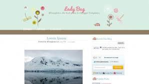 lady bug blogger template btemplates