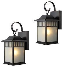 exterior light fixtures set of 2 oil rubbed bronze craftsman