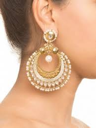 big earing earrings dull gold and earrings online shopping india