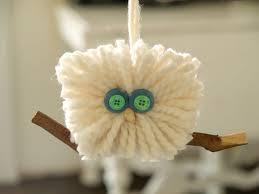 make a fluffy yarn owl ornament christmasornaments
