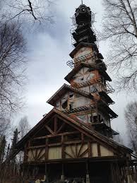 this alaskan log cabin tower house looks like a dr suess movie set