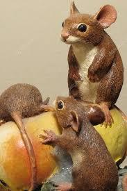 ornamental statue of field mice stock photo mervyn carr 23646295