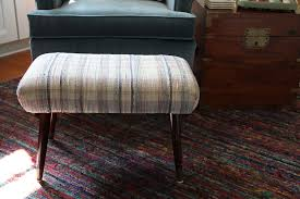 Plaid Ottoman One Wingback Three Ottomans Which One Do You Like Best A
