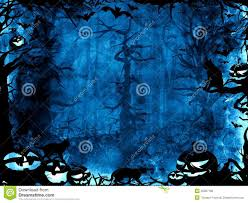 halloween dark background halloween dark blue magic mystic background stock illustration