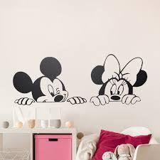 dessin mural chambre dessin animé de mickey minnie souris mignon vinyle stickers