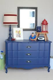 navy blue painted dresser makeover