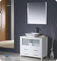 36 vessel sink vanity fresca torino 36 white modern bathroom vanity with vessel sink