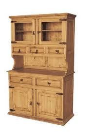 wood buffet and hutch rustic china cabinet and pine wood sideboard