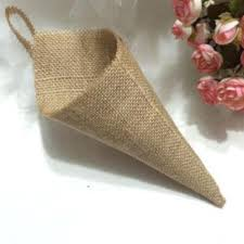 Wedding Home Decoration Hanging Burlap Pew Cone Wall Organizer Country Rustic Wedding Home