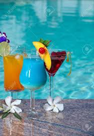 blue cocktails mai tai blue hawaiian and cosmopolitan cocktails on swimming