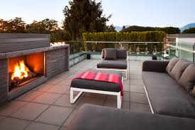 rooftop patios outdoor fireplace and patio with roof decks patios rooftop deck