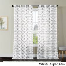 vcny khara embroidered sheer grommet top curtain panel 108 inch