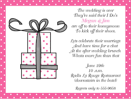 brunch invitation wording present after wedding brunch invitations