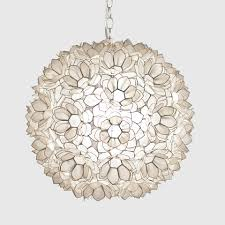 Capiz Light Pendant Capiz Shell Floral Pendant Chandelier Large By Worlds Away Jupiter