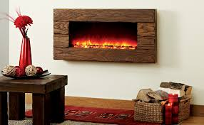 Rustic Electric Fireplace Lodge Electric Wall Mounted Fireplace