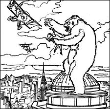 the collinsport historical society the morgue king kong coloring