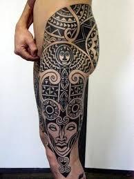 tattoo tribal na perna masculina tatuagem maori na coxa tattoo tribal pinterest tatuagem maori