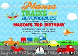 free printable train birthday invitations gallery invitation