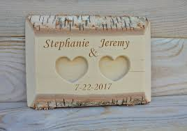 wedding ring holder 39 00 usd personalized birch wood ring box rustic wedding ring