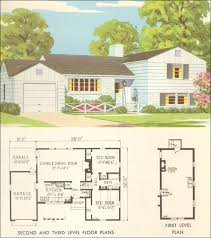 tri level floor plans transitional mid century split level house 1954 national plan