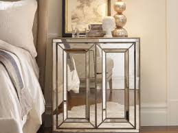 Hayworth Mirrored Chest Silver by Furniture 32 Mirrored Glass Nightstand 22 Creative Furniture