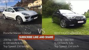porsche macan top speed 2016 porsche macan s diesel vs 2016 bmw x4 xdrive30d f26 0 210 km