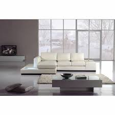 modern bonded leather sectional sofa divani casa t35 mini bonded leather sectional sofa with lights