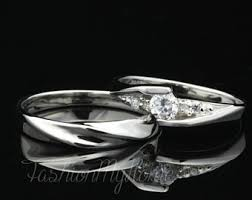 Wedding Rings Sets His And Hers by His And Her Promise Rings Etsy