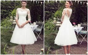 wedding dress brokat 15 gaya midi wedding dress terbaik yang bisa jadi inspirasi idn