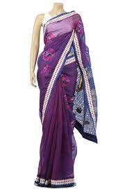 arong saree midnight blue cutwork moslin saree from aarong bangladeshi