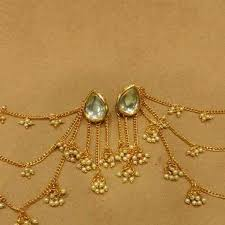 earring chain necklace images Kundan earrings with tassles and ear chain happy shappy jpeg