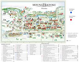 mhc campus map pioneer valley the berkshires pinterest