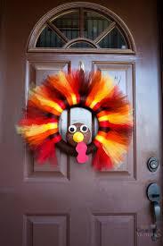 thanksgiving wreath turkey tulle wreath best thanksgiving wreath for your door