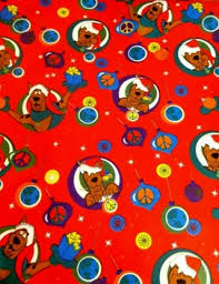 scooby doo wrapping paper free santa look scooby doo pre cut christmas wrapping paper