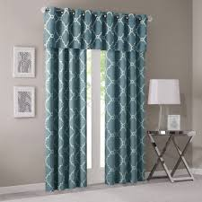 Seafoam Green Window Curtains by Home Essence Sereno Fretwork Print Window Panel Walmart Com