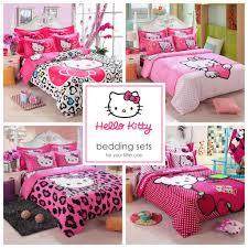 Pink Full Size Comforter Kids Hello Kitty Bedding Duvet Quilt Cover Bedding Set Twin Full