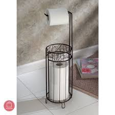 bronze bathroom accessories free standing toilet paper holder