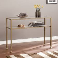 modern gold table l console table outstanding gold and glass console table on sofa