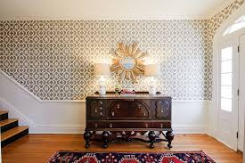 small foyer table ls gorgeous entryways clad in wallpaper