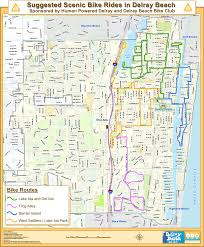 map of delray human powered delray hpd map and of scenic bike rides